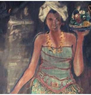 Lukisan antik tahun 1946 karya Abdullah.