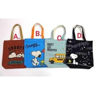 日本 史努比帆布購物包