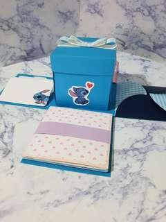 🚚 💙史迪奇-爆炸卡片禮物盒💙