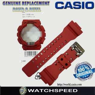 🚚 Original Replacement Band and Bezel for CASIO G SHOCK For GA-100B-4A