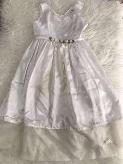 Dress cantik utk ulang tahun / natal warna putih offwhite