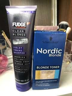 Brassy Blonde Kit - Fudge Toning Purple Shampoo 👸🏼