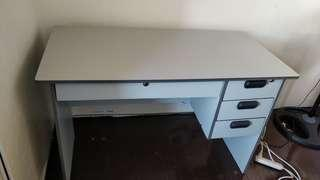Light grey office desk