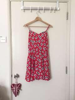 Cotton On Cherry Red Floral Dress
