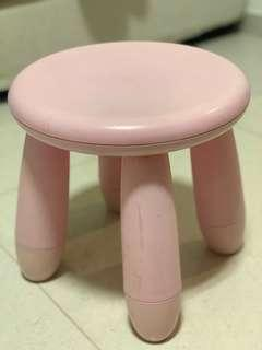 Ikea mammut pink kids / children's stool