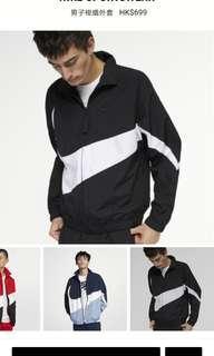 Nike swoosh jacket big logo tick