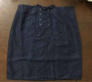 GRL深藍牛仔裙