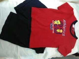 🚚 HANG TEN男女童70~80cm公分紅色短袖上衣