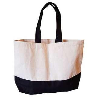 🚚 (3pcs) Blank Canvas Tote Bag - Black Base
