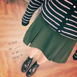 Pazzo 打褶短裙(黑)