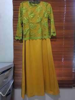 Long dress brokad