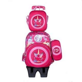 3 in 1 School  trolley bag