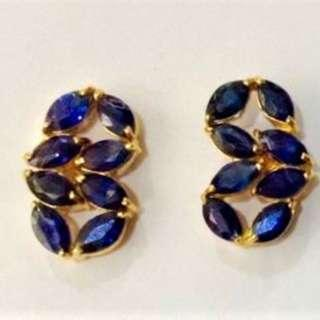 Authentic Sapphire Earring