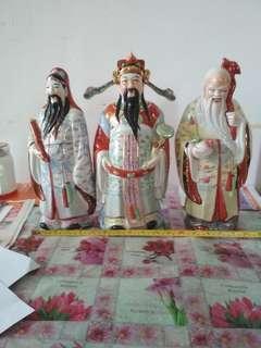 福祿壽陶瓷擺設