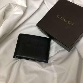 Gucci 簡約 牛皮防刮 短夾 美品 瑞奇二手精品
