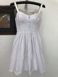 White Dress bustier