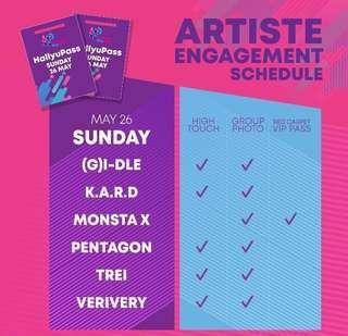 WTT hallyupopfest artiste engagement 2019