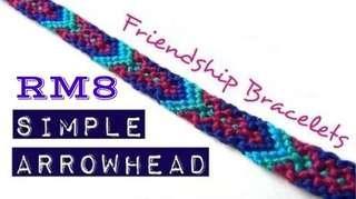 Simple Arrowhead Friendship Bracelet