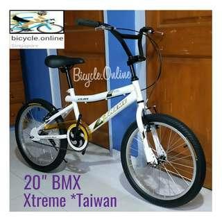 "Classic White 20"" BMX. Brand New Bicycle, Xtreme *Taiwan"