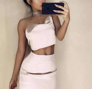 RENT: silk skirt and top