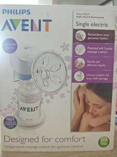 🚚 Philips Avent Breast Pump single electric