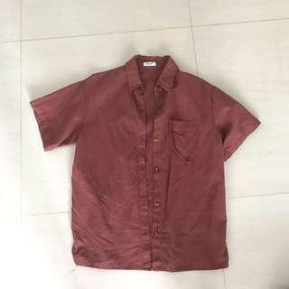 Ulzzang Dusty Pink Collar Shirt