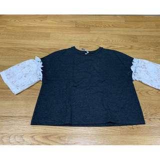 gray lace shirt