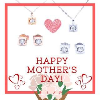 母親節優惠。山形鑽石項鍊
