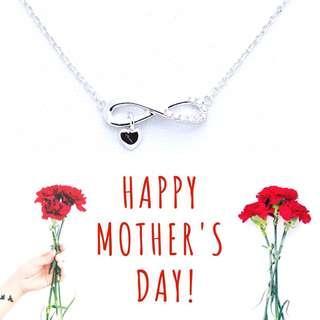 母親節優惠。8字形鑽石項鍊