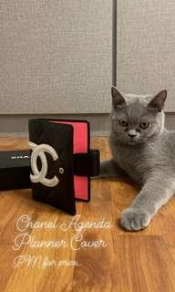 Authentic Chanel Leather Agenda Cover
