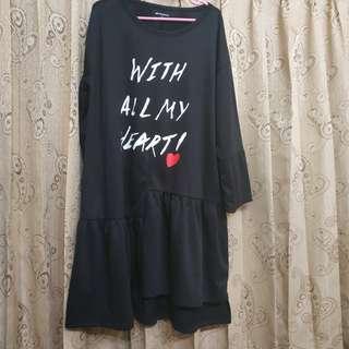 COLORBOX BLACK DRESS/TOP