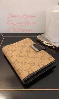 Authentic Gucci Agenda Cover (Fabric with leather)