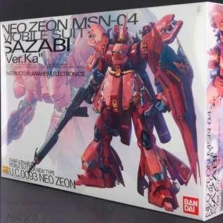 Bandai Gundam MG Sazabi ver ka 全新未砌