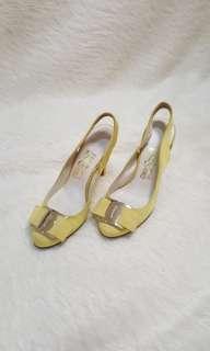 authentic Salvatore Ferragamo sling back heels