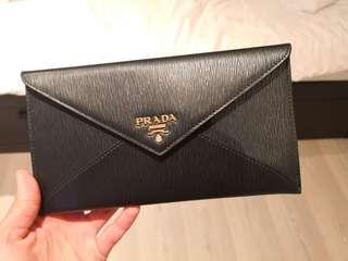 PRADA Leather Envelope Wallets for Women