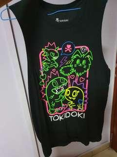 Tokidoki colourful black tank top