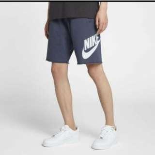 專櫃正品原價1460 Nike Sportswear Short 男款 藍色 大Logo 短褲 Xl 棉質 短褲 白勾