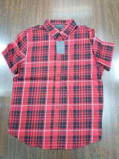 BLACK SCALE S/S COTTON FLANNEL YARN DYED CHECKER SHIRT