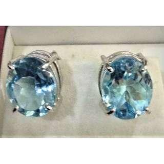Authentic Sky Blue Topaz Earring