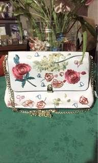 Topshop floral embroidred clucth bag