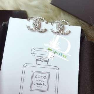 Chanel雙c珍珠稻穗耳環(vip gift)