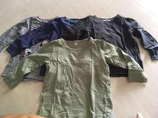 Boy long sleeves shirt (4 pcs)