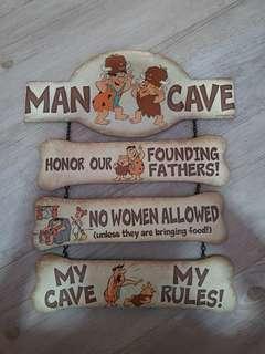 🚚 Flinstone Man Cave Wall Decoration