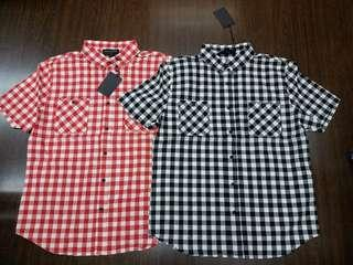 Black SCALE S/S COTTON YARN DYED CHECKER SHIRT
