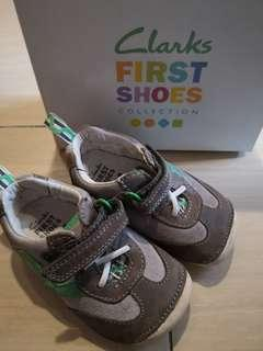 Clarks Baby Boy First Leather Shoes Cruising UK4/ EU20