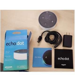 Amazon Echo Dot Speaker Alexa 2nd Generation Bluetooth Wireless Smart Assistant (White)