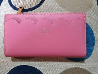 Authentic Pink scalloped Kate Spade long Wallet