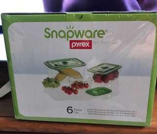 Snapware Pyrex Rectangular Storage 6 Piece Set