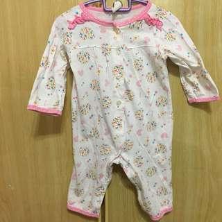🚚 Pink floral romper (Long sleeve)