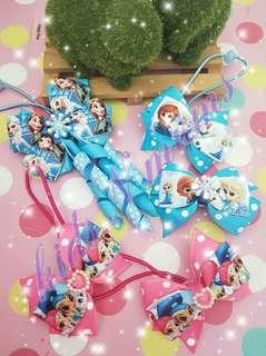 🚚 Handmade frozen hair tie / hair clips
